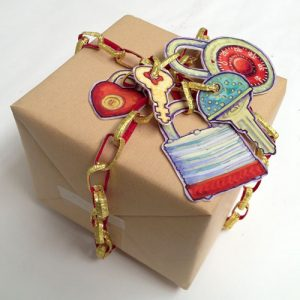 gift box with locks and keys