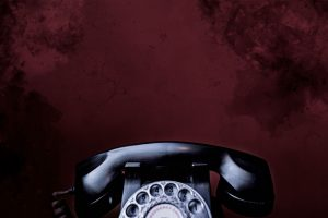 rotary phone in an escape room